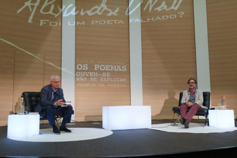 Nuno Moura e Nicolau Santos no Templo da Poesia