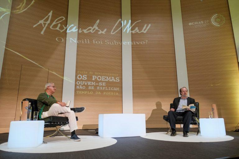 Pedro Mexia e Nicolau Santos no Templo da Poesia